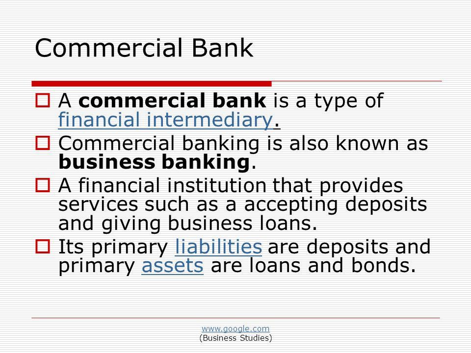 FUNCTIONS OF COMMERCIAL BANKING - ppt video online download