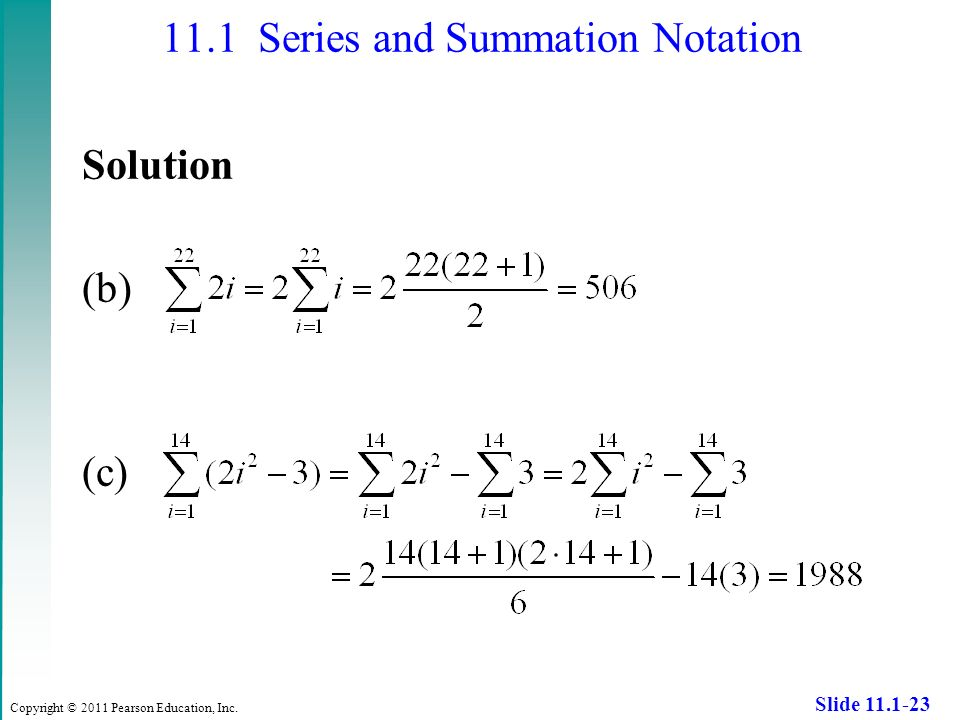 summation notation examples with answers pdf