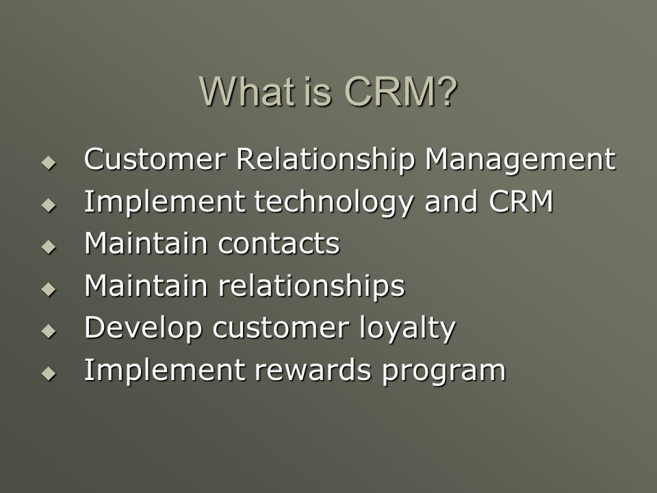 What is CRM Customer Relationship Management