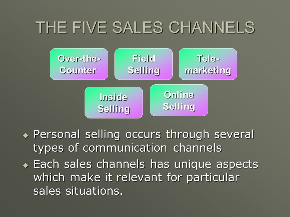 THE FIVE SALES CHANNELS