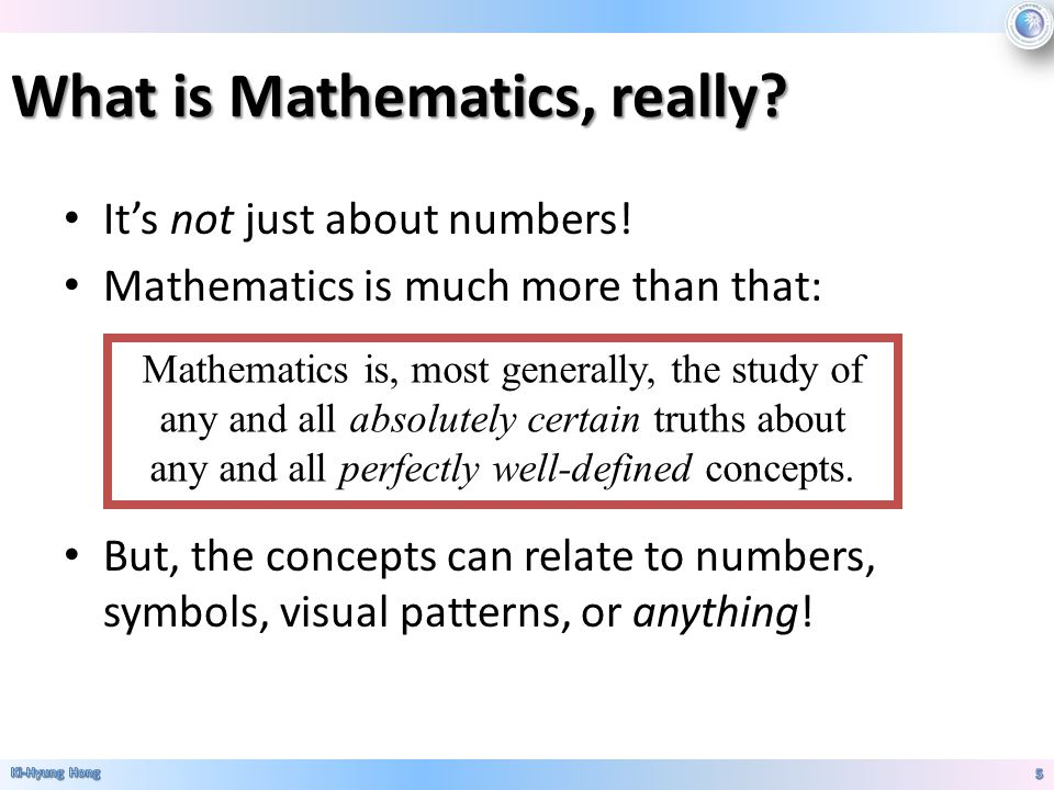 what is the full meaning of mathematics