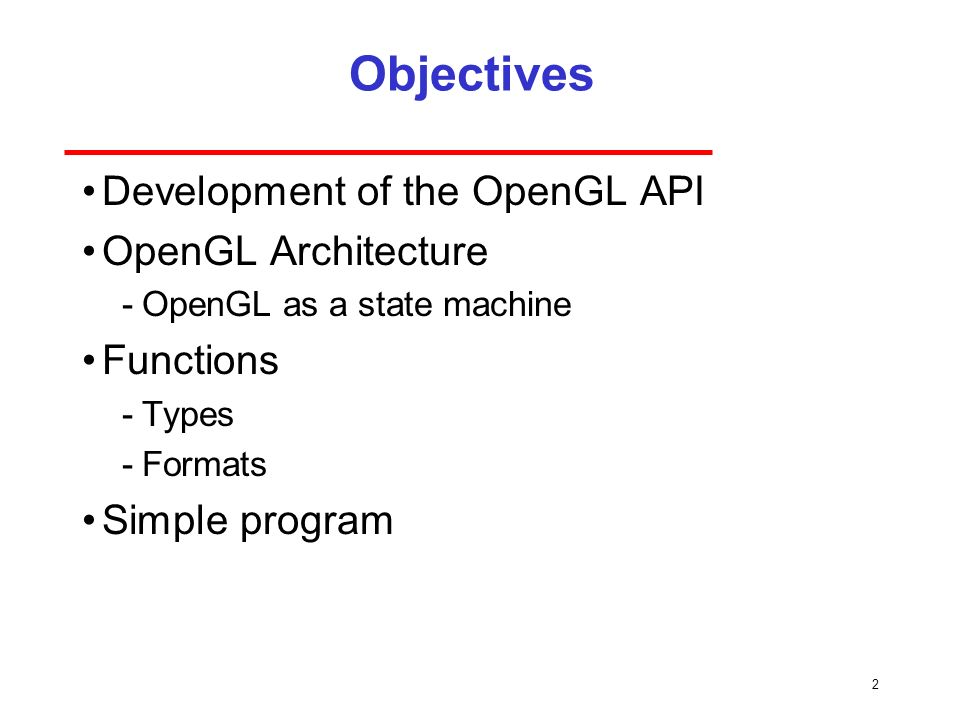 Programming with OpenGL Part 1: Background - ppt video