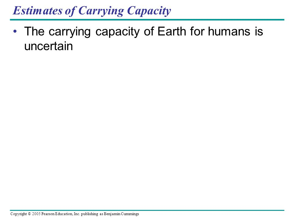 Estimates of Carrying Capacity