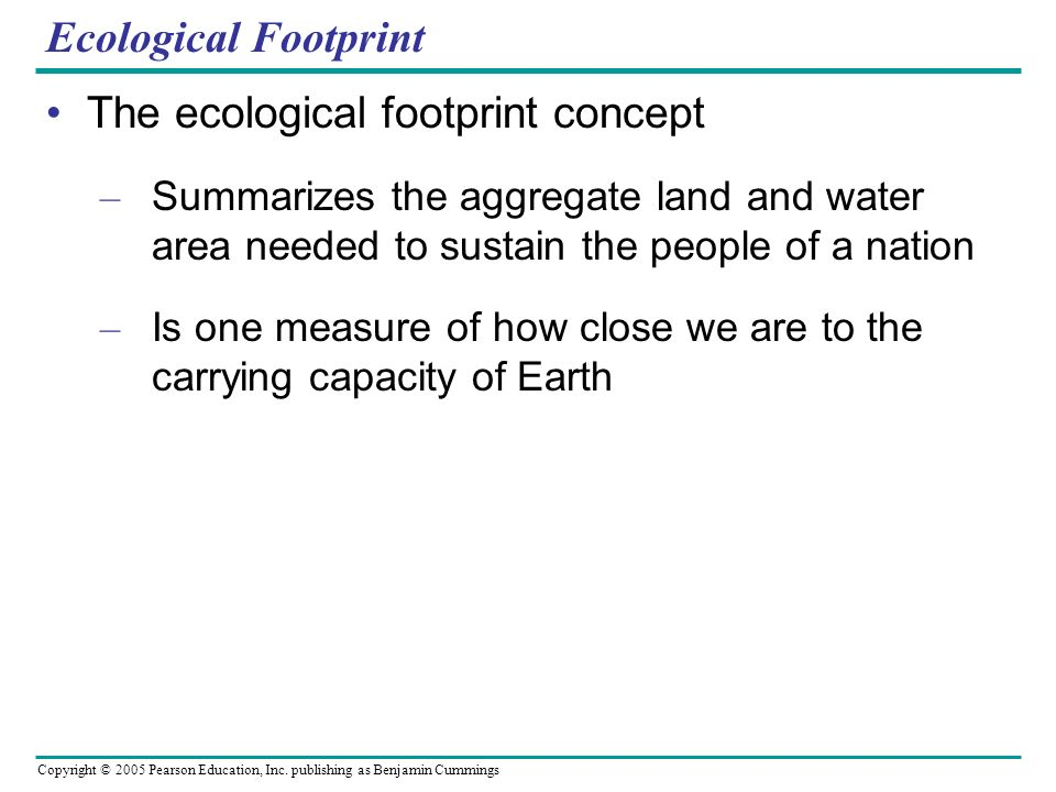 The ecological footprint concept