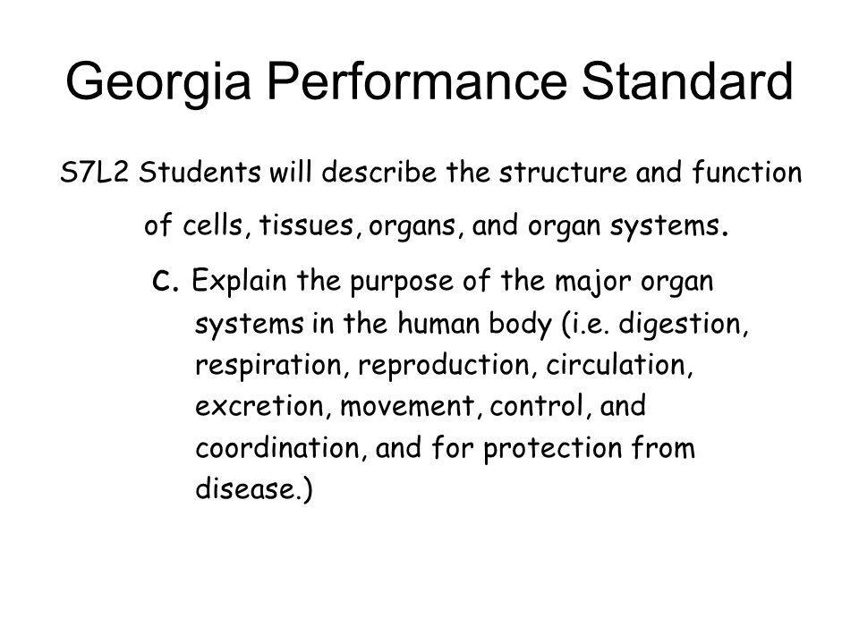 Georgia Performance Standard