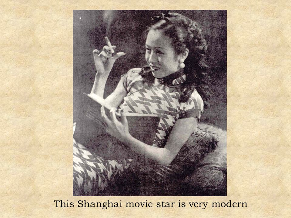 This Shanghai movie star is very modern
