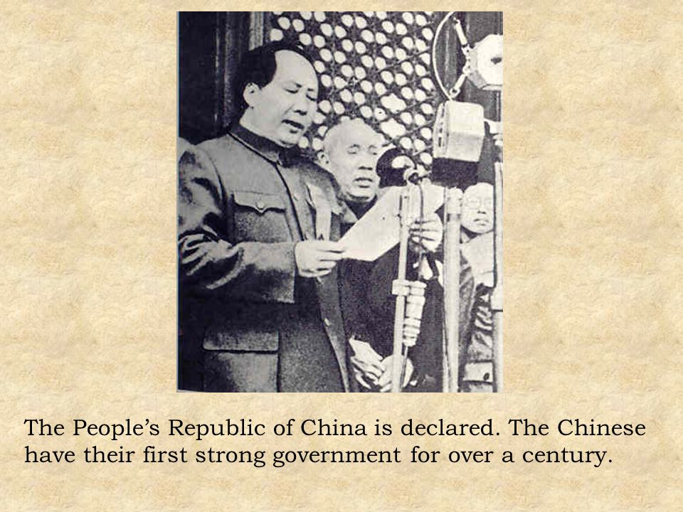 The People's Republic of China is declared