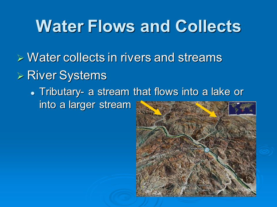 Water Flows and Collects