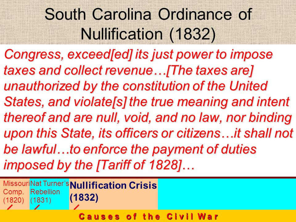 South Carolina Ordinance of Nullification (1832)