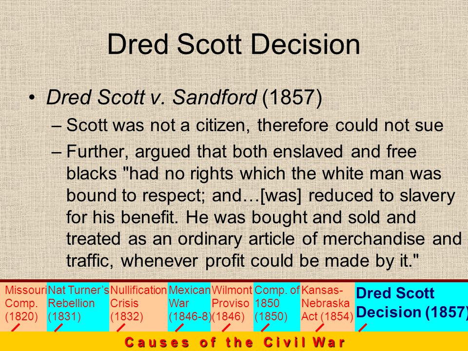 Dred Scott Decision Dred Scott v. Sandford (1857)