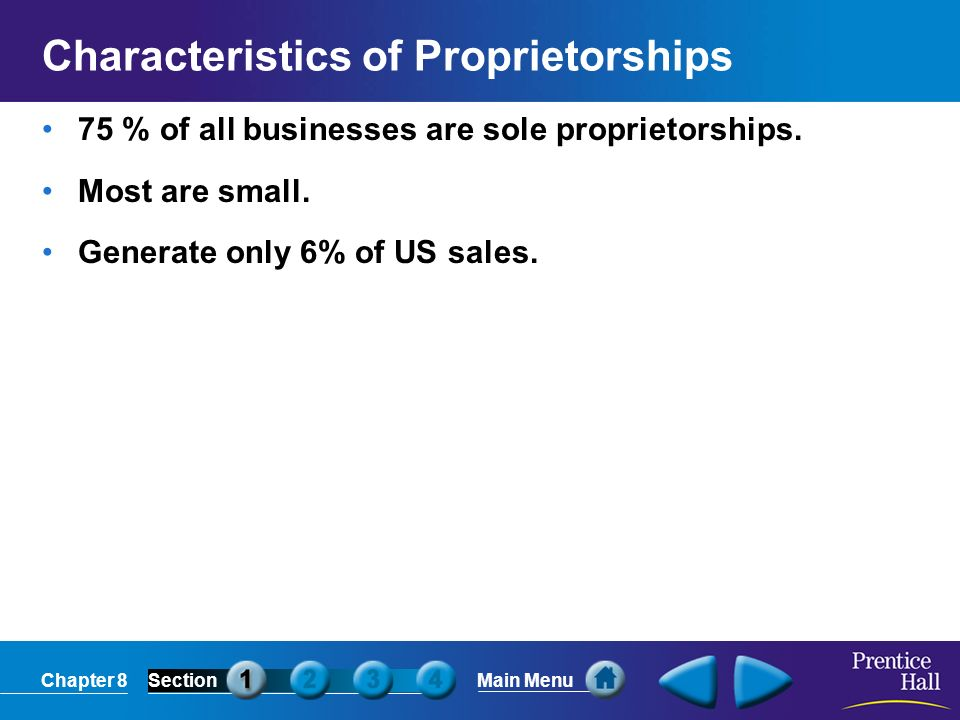Characteristics of Proprietorships