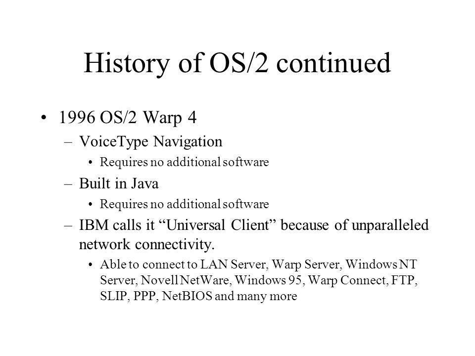 Operating System/2 Warp - ppt video online download