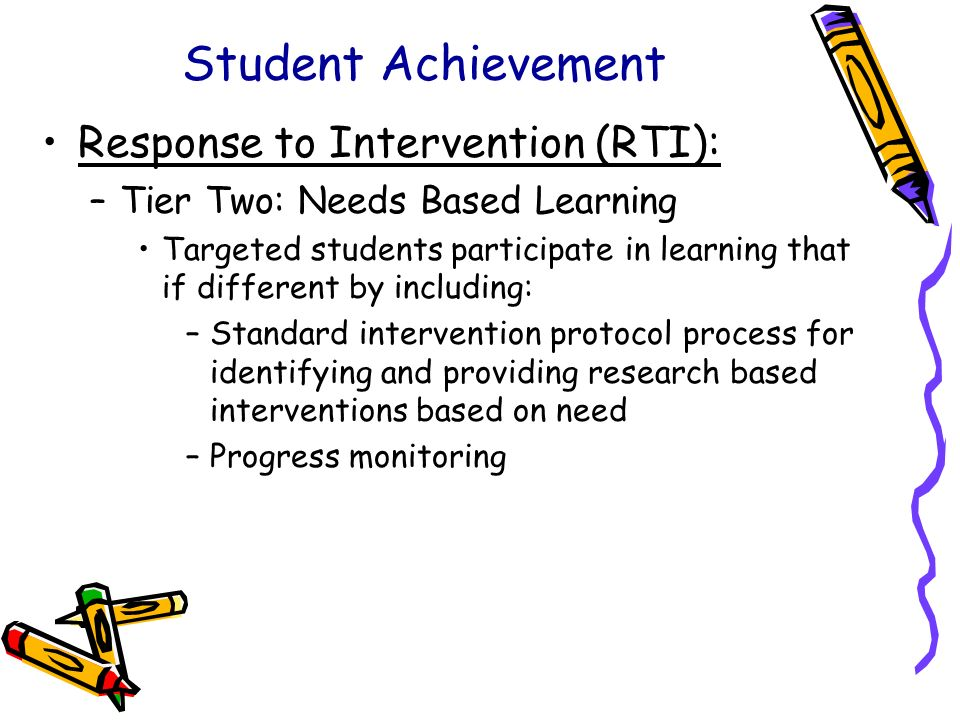 Student Achievement Response to Intervention (RTI):