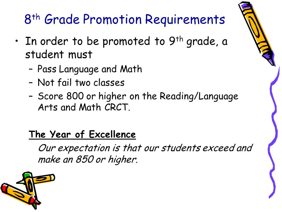 8th Grade Promotion Requirements