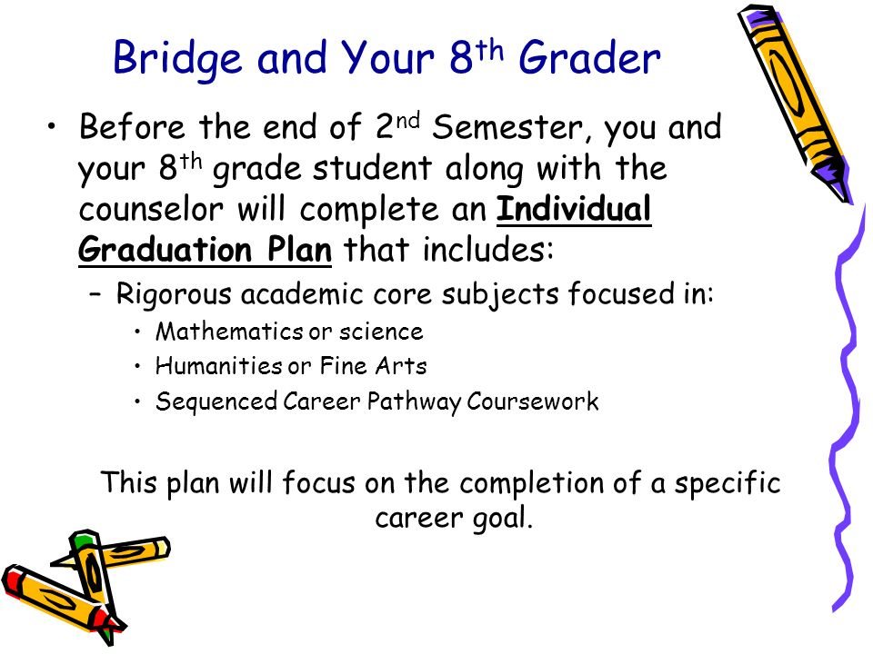 Bridge and Your 8th Grader