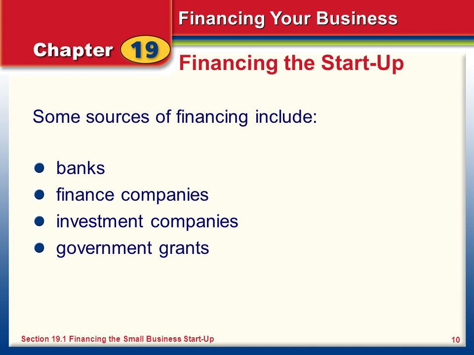 Financing the Start-Up