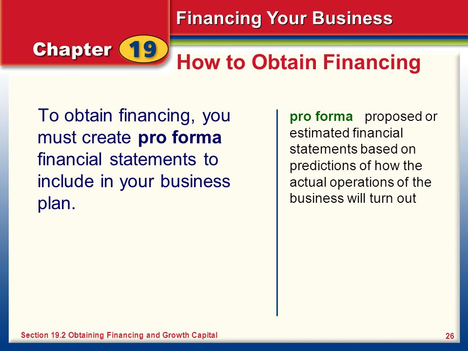 How to Obtain Financing