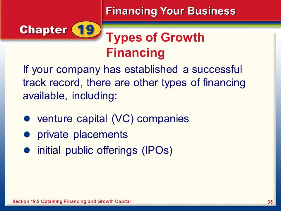 Types of Growth Financing
