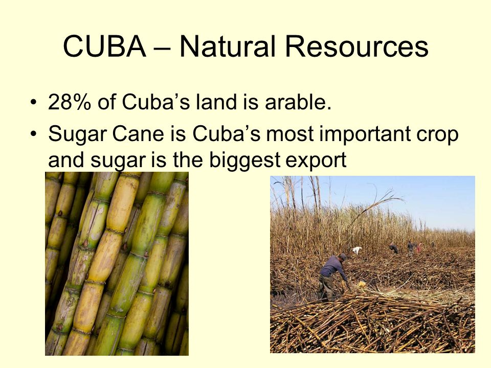 CUBA – Natural Resources