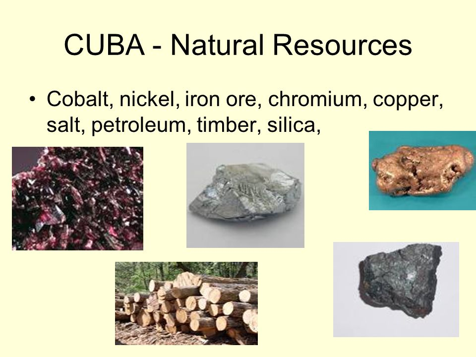 CUBA - Natural Resources