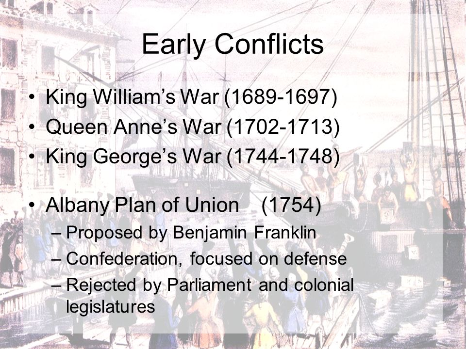 Early Conflicts King William's War (1689-1697)