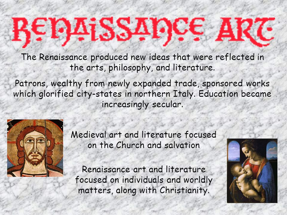 Medieval art and literature focused on the Church and salvation