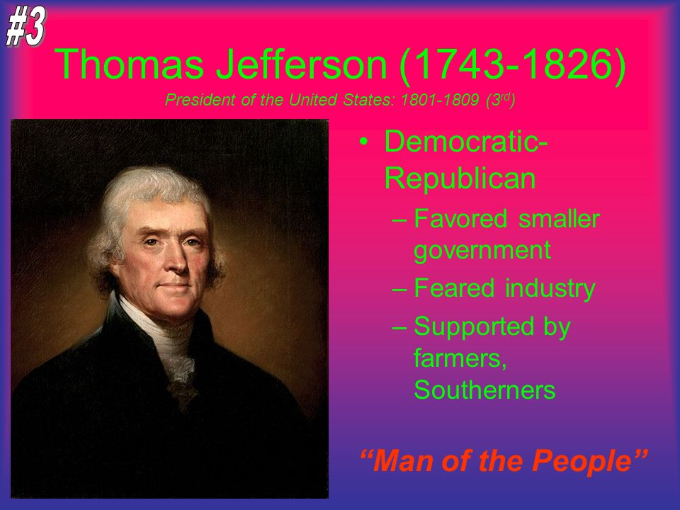 President of the United States: 1801-1809 (3rd)