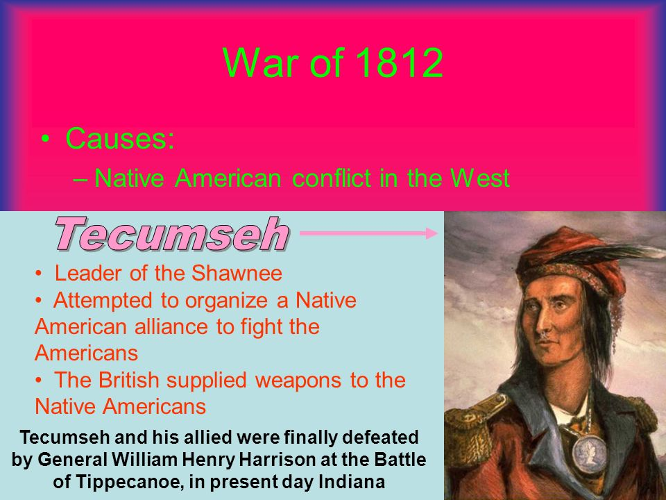 War of 1812 Tecumseh Causes: Native American conflict in the West