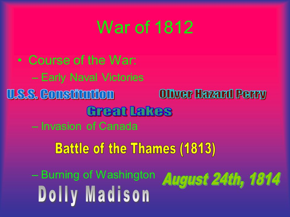 War of 1812 U.S.S. Constitution Oliver Hazard Perry Great Lakes