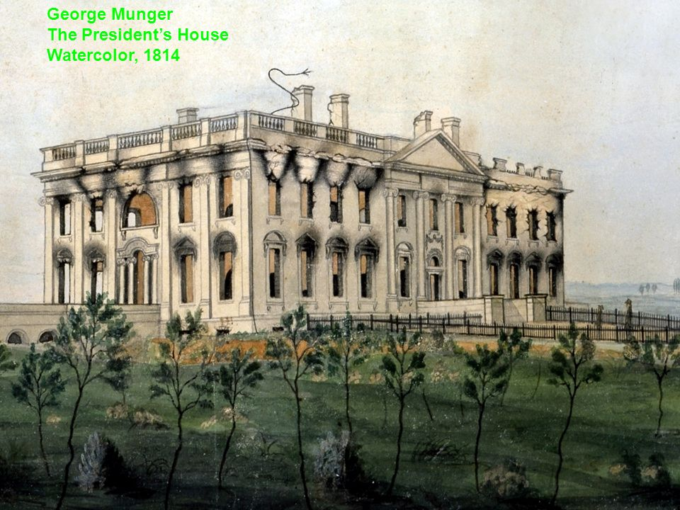 George Munger The President's House Watercolor, 1814