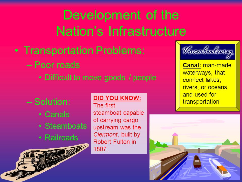 Development of the Nation's Infrastructure