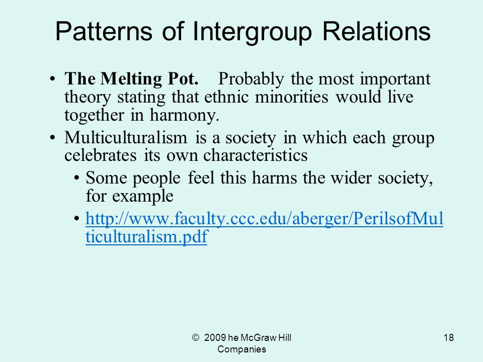 Patterns of Intergroup Relations