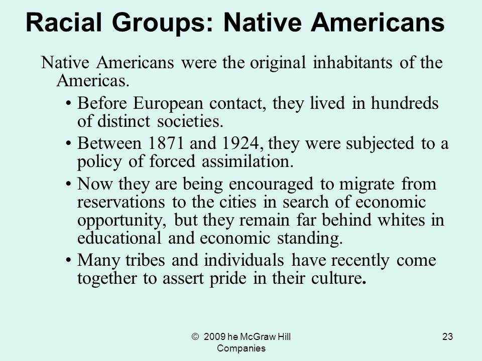 Racial Groups: Native Americans