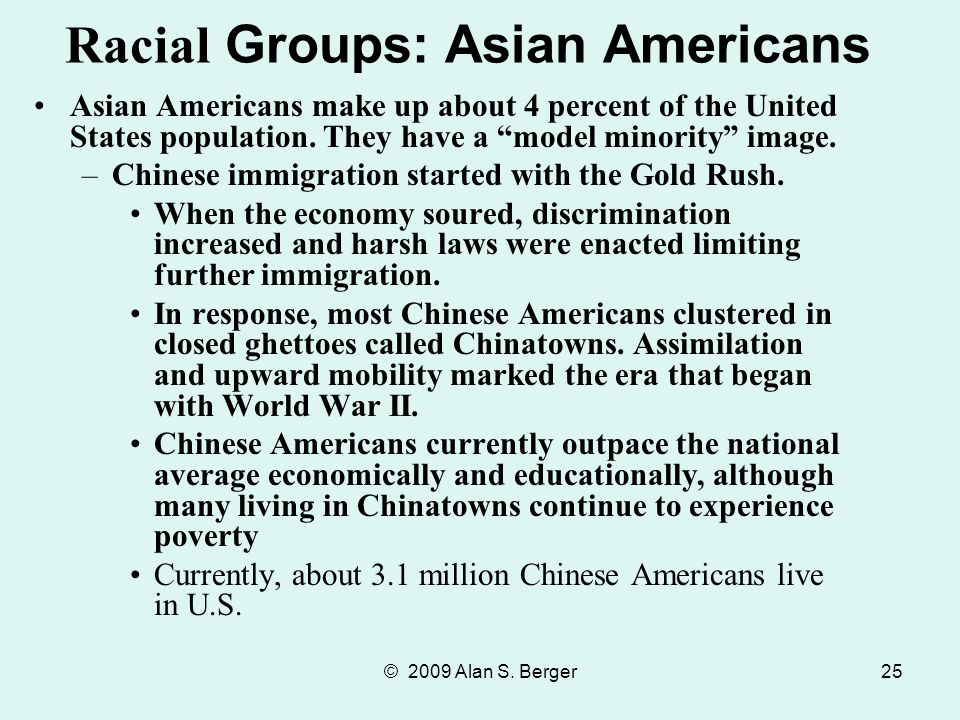 Racial Groups: Asian Americans