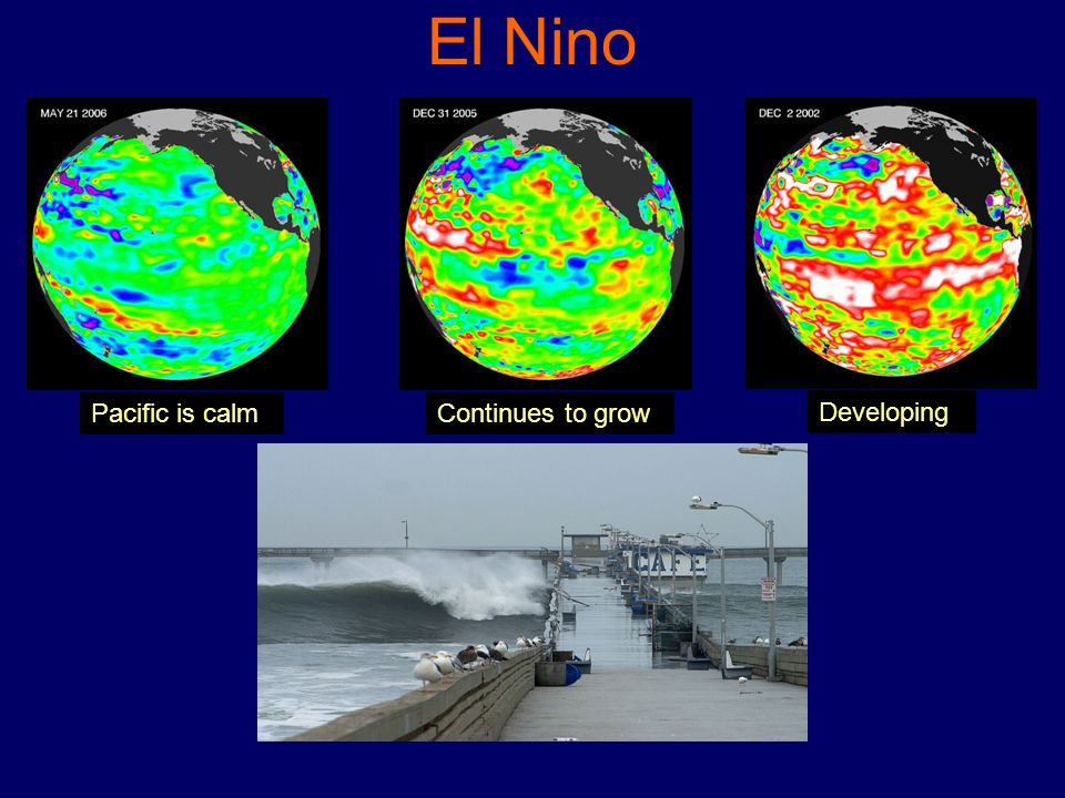 El Nino Pacific is calm Continues to grow Developing