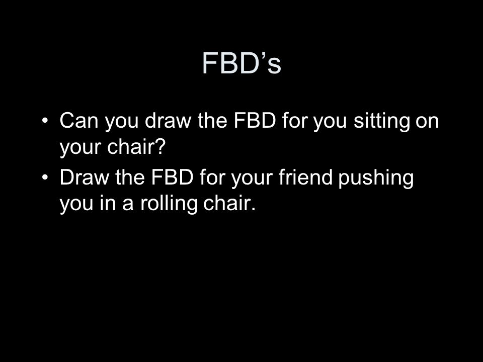 FBD's Can you draw the FBD for you sitting on your chair