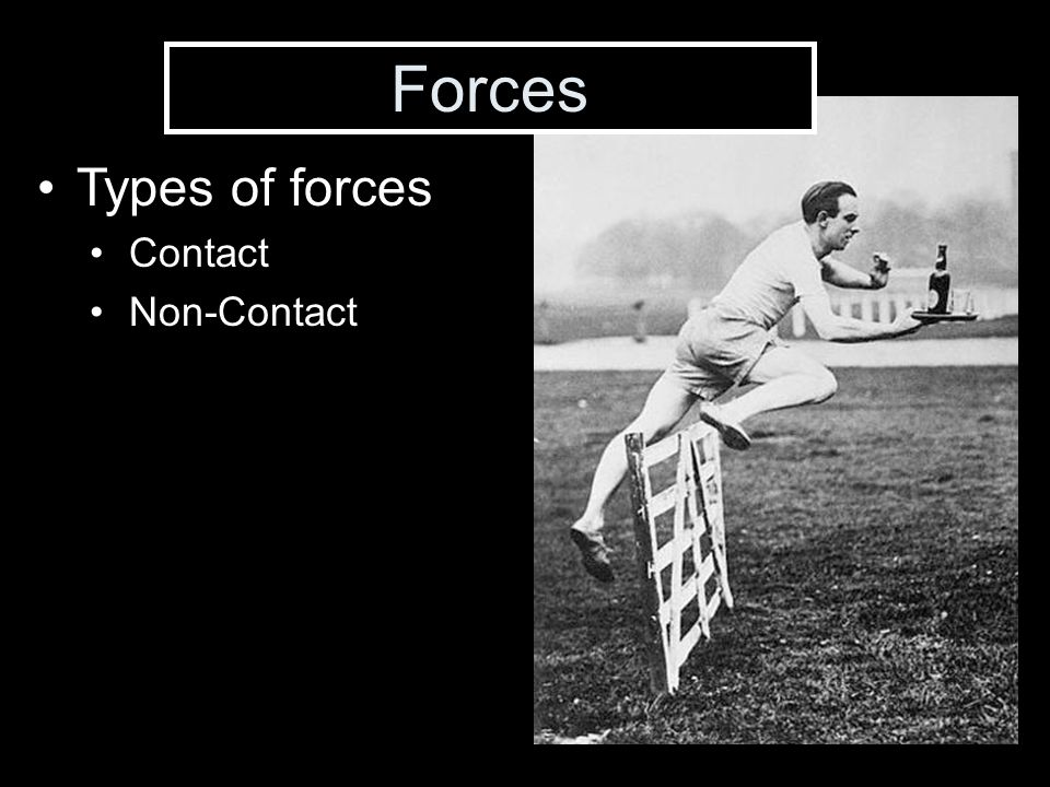 Forces Types of forces Contact