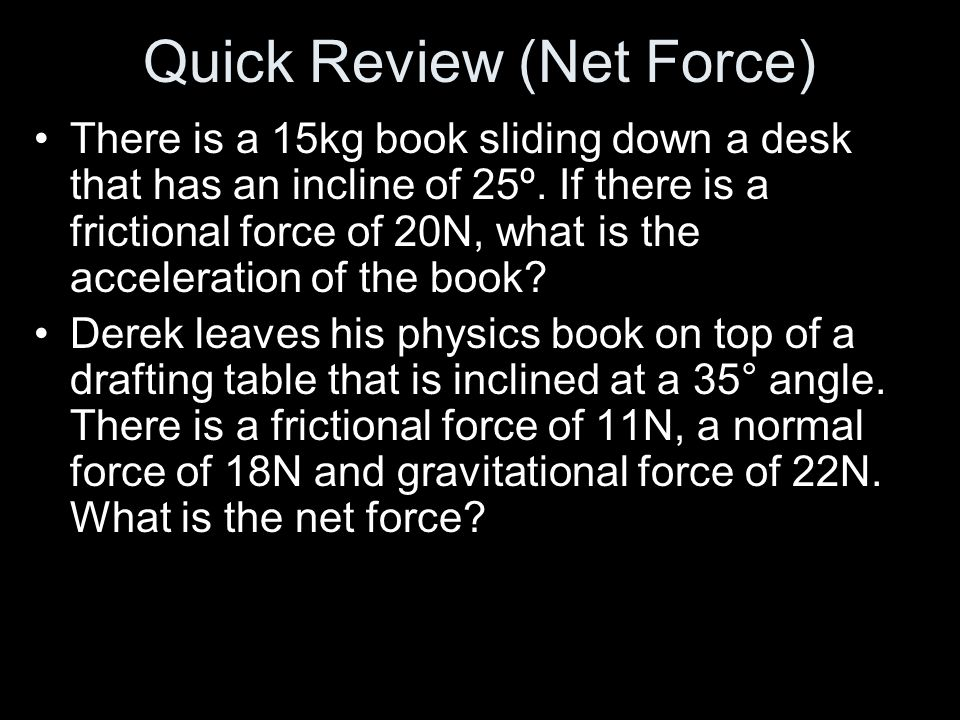 Quick Review (Net Force)