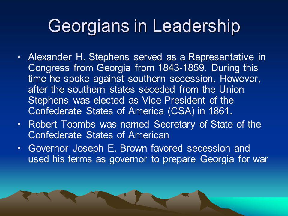Georgians in Leadership