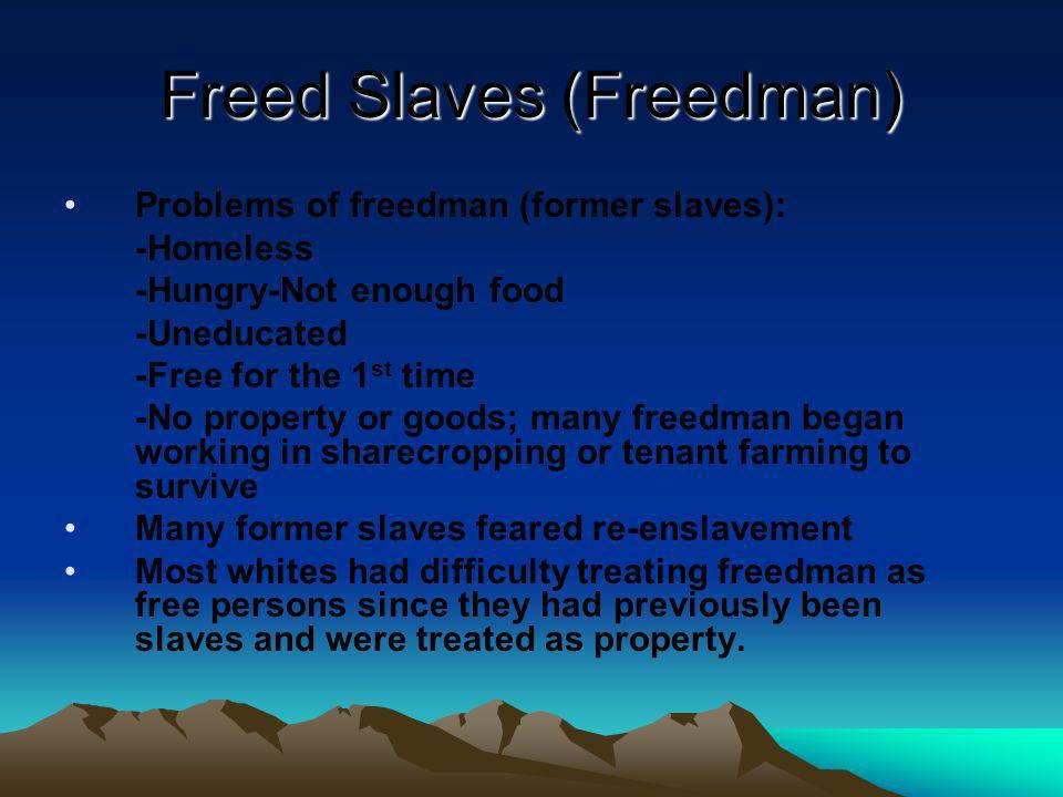 Freed Slaves (Freedman)