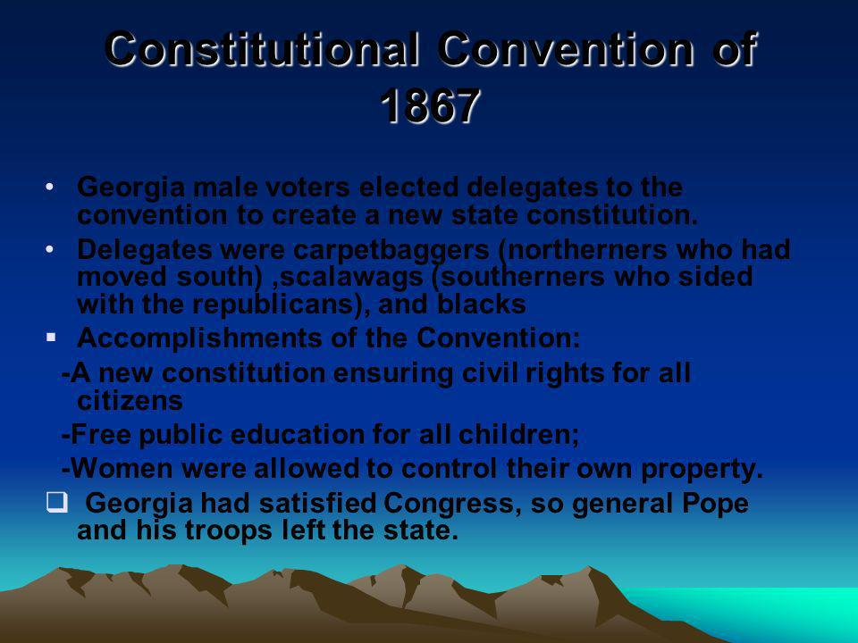 Constitutional Convention of 1867