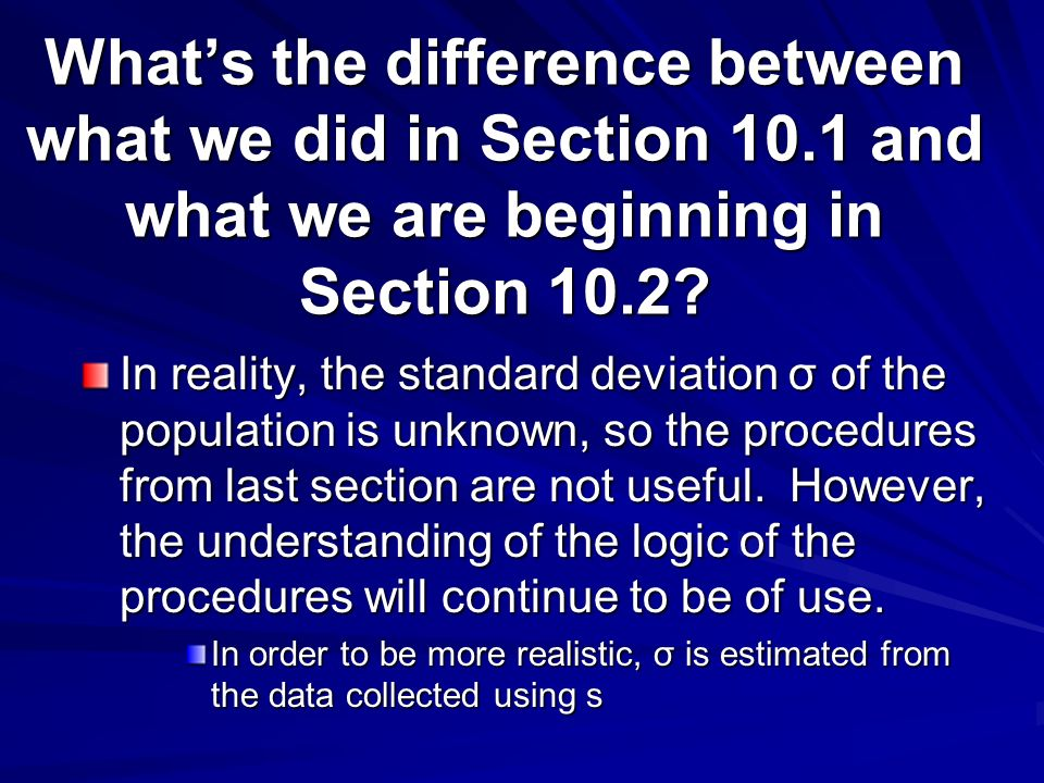 What's the difference between what we did in Section 10