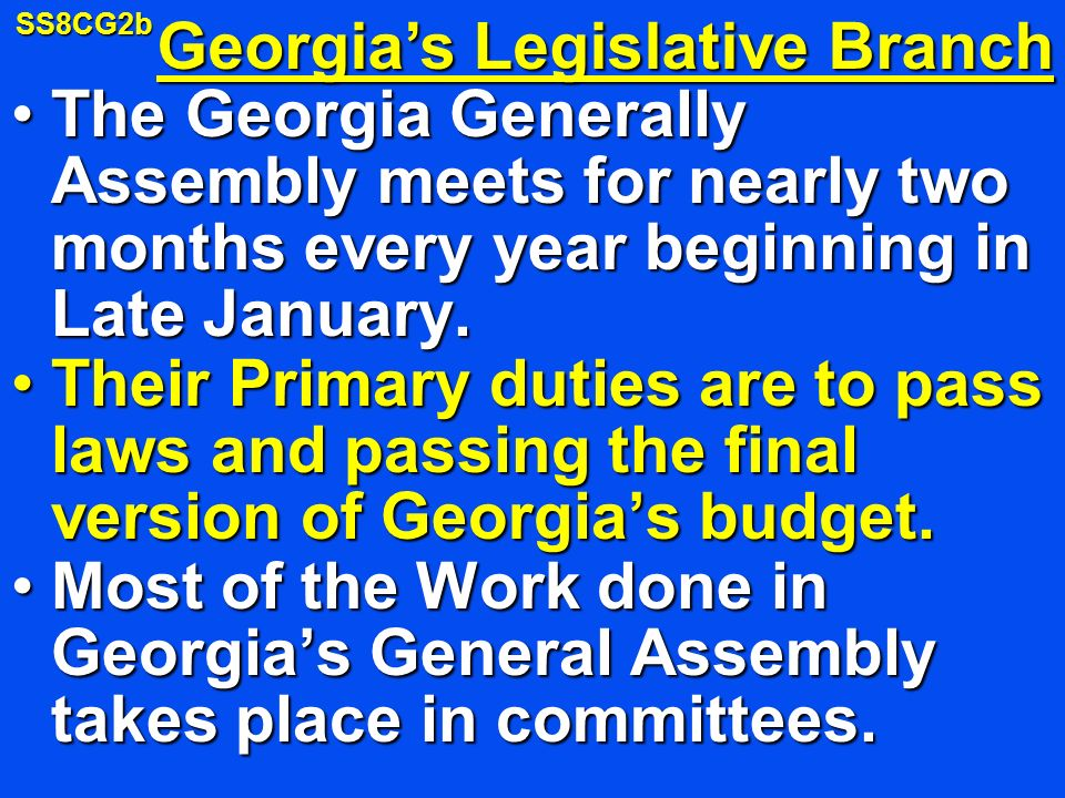 Georgia's Legislative Branch
