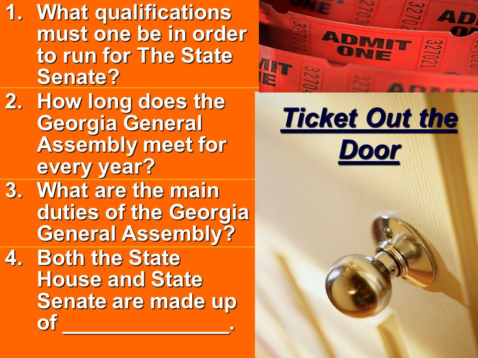 What qualifications must one be in order to run for The State Senate