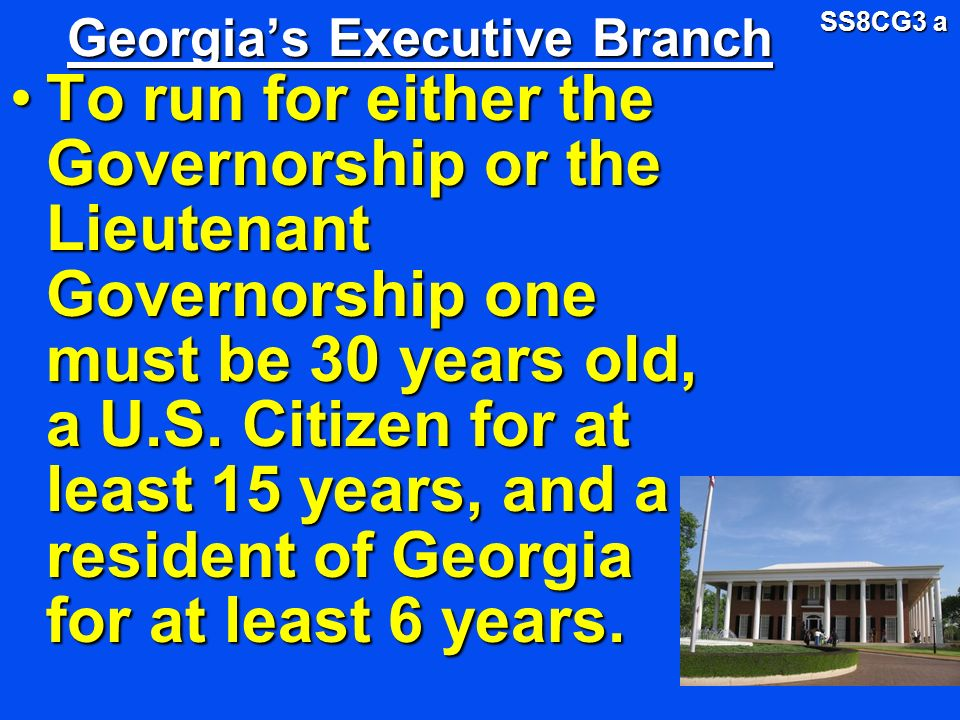 Georgia's Executive Branch