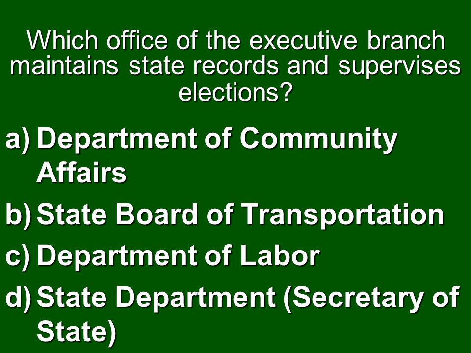 Department of Community Affairs State Board of Transportation