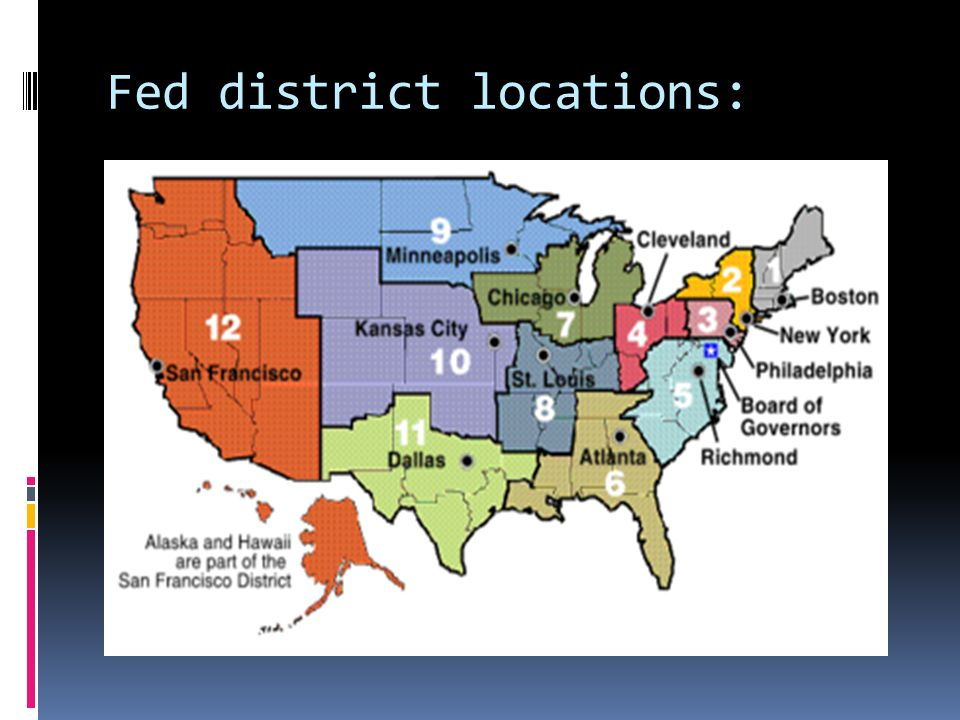 Fed district locations: