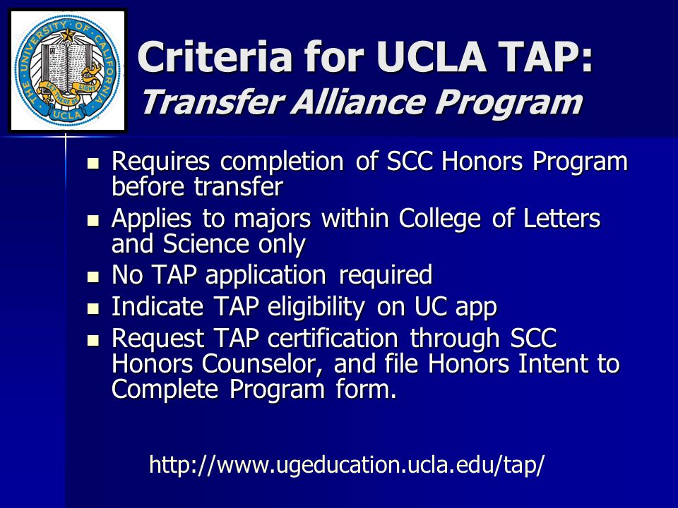 college of letters and science ucla transfer tag tap programs scc transfer center 714 room 20899