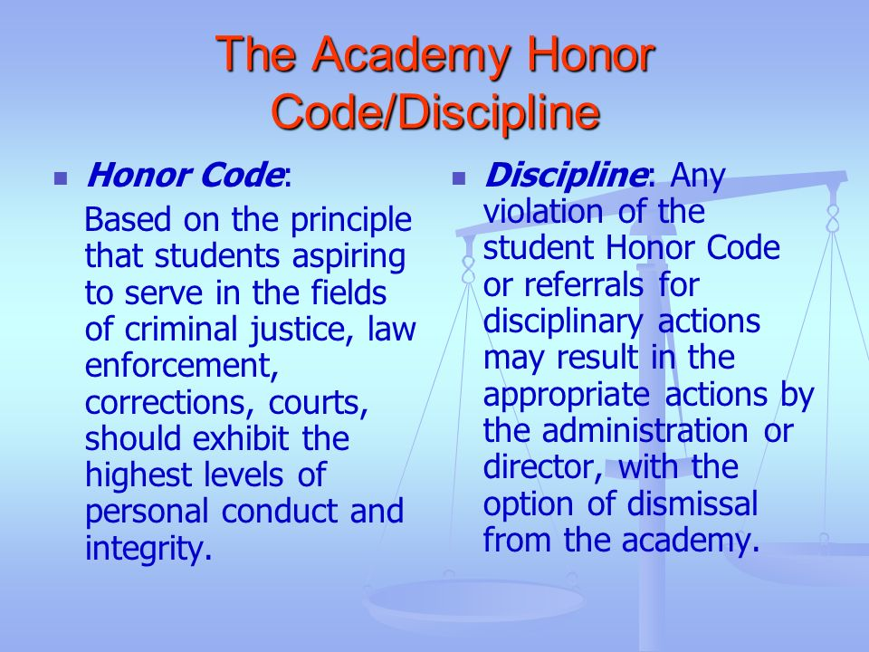 The Academy Honor Code/Discipline