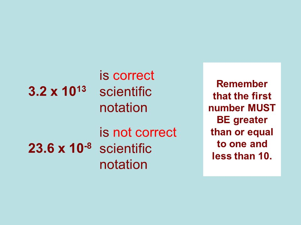 is correct scientific notation